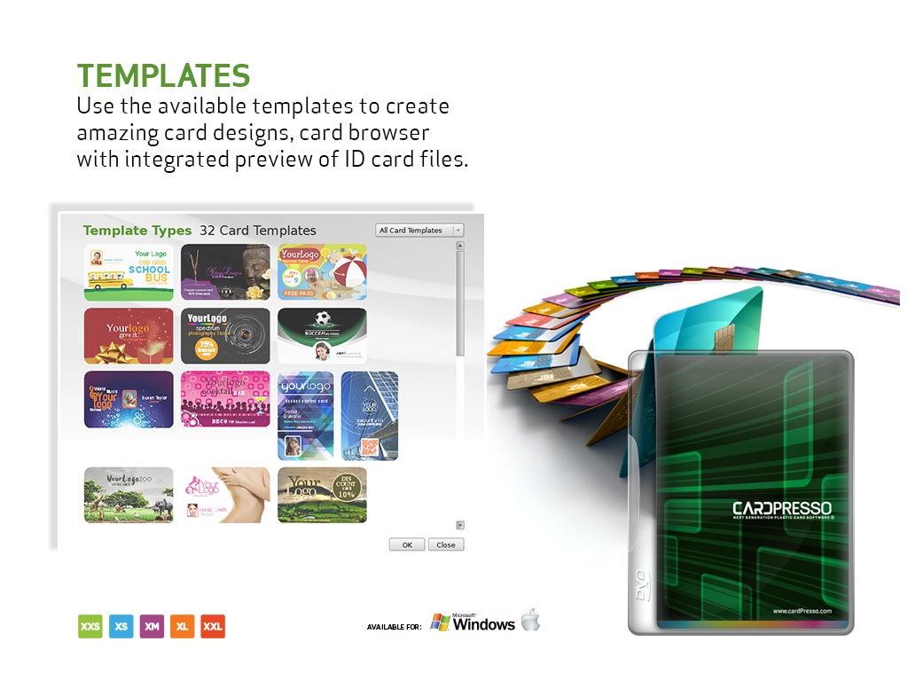 Cardpresso software id card printers from all major brands for Asure id templates