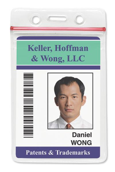 asure id templates - badge holder with resealable top data credit card size
