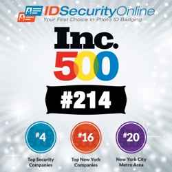 IDSecurityOnline.com Ranks #214 on the 2014 Inc. 500 list with Three-Year Growth of 2,093%