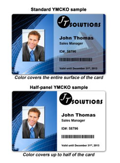 Standard YMCKO vs. Half-panel color ribbon: make the right choice!