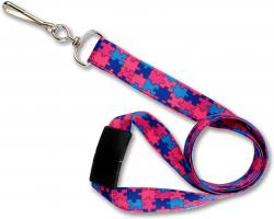 Autism Awareness Lanyard