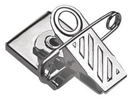 Pressure-Sensitive Nickel-Plated Pin/Clip Combination, 1-Hole Ribbed-Face