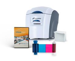 Complete ID Card Printer Bundle: Magicard Pronto ID Printer, SoftBadge Creator ID Software & ID Supplies