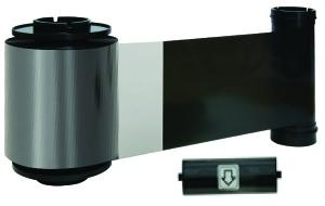 KO Black and overlay ribbon w/ cleaning roller, 1500 cards/roll