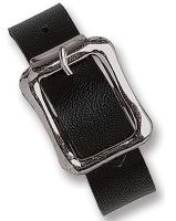 Black Vinyl Luggage Strap with NPS Buckle, 7 X 1/2