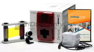 Evolis Zenius Single Sided Photo ID System - Fire Red