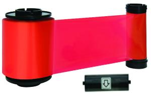 R Resin red ribbon w/ cleaning roller, 3000 cards/roll