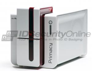 Evolis Primacy Single Sided ID Card Printer with Ethernet - Red