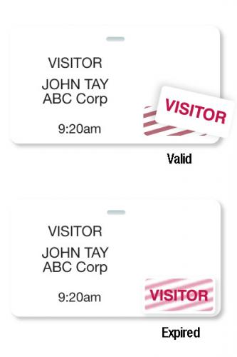 Thermal-Printable Badges with Timetoken Clip-On Blank