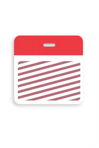 Timebadge Clip-On Backpart Half Day/One Day Red 185 Color Bar