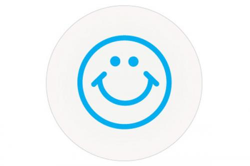 Half-Day Smiley Face (Blue) Timing Circles