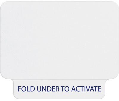 Single-Piece Adhesive Tab-Expiring Badge (Thermal Printable)