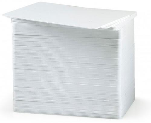 Zebra white PVC 50 mil cards (250 per box)