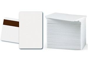 Card, White PVC, 30 Mil, Retransfer-Ready