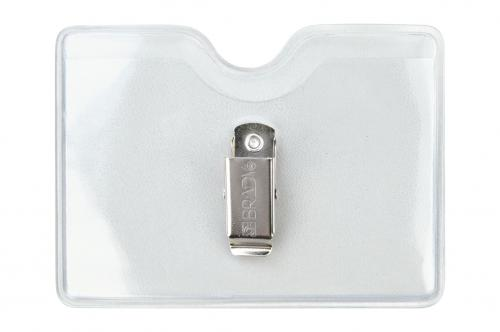 Clear Vinyl Badge Holder with Brady Clothing-Friendly Clip