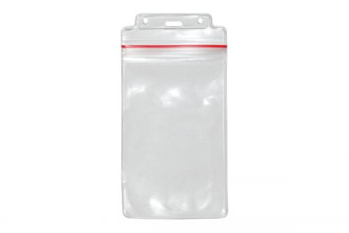 Badge Holder with Resealable Top, Vertical