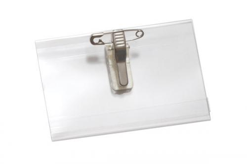 Name Tag Holder with Pin/Clip Combo - 2-1/2