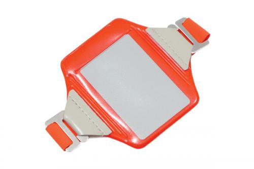 Neon Orange Vertical Arm Band Badge Holder