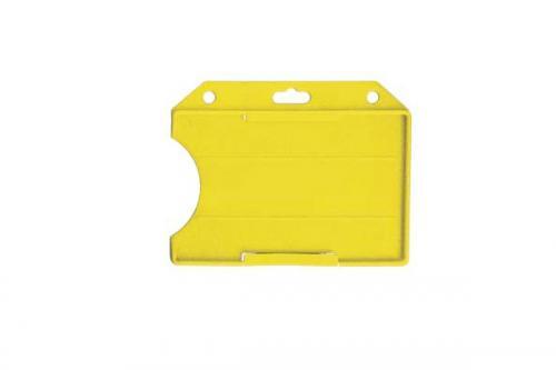 Rigid Plastic Horizontal Open-Face Card Holder