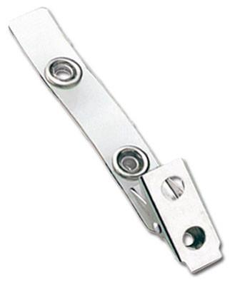 Clear Vinyl Strap Clip with 2-Hole NPS Clip, Large Snaps