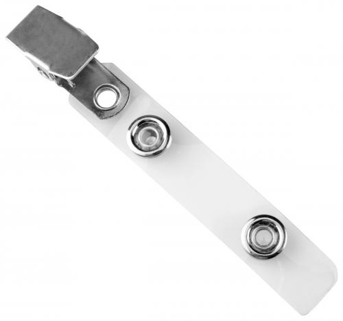Clear Vinyl Strap Clip with Smooth Face NPS Clip