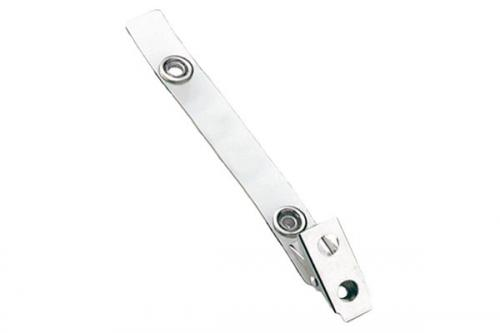 Clear Vinyl Strap Clip with 2-Hole NPS Clip