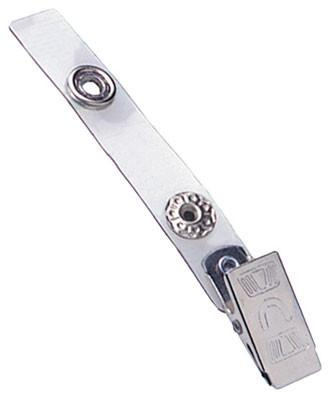 "Clear Vinyl Strap Clip with NPS Embossed ""U"" Clip"