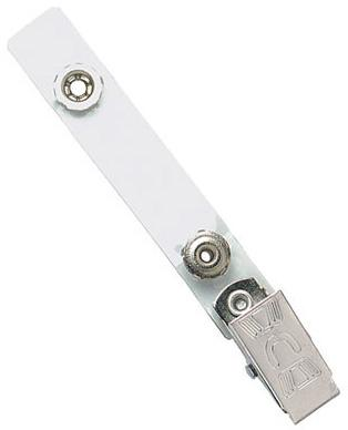 Clear Vinyl Strap Clip with Permanent Snap