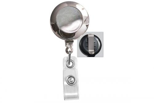 Badge Reel with Clear Vinyl Strap