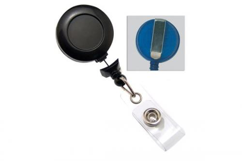 No-Twist Badge Reel with Clear Vinyl Strap