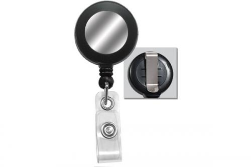 Round Badge Reel Clear Vinyl Strap