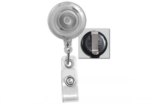 Badge Reel with Quick Lock And Release Button , Reinforced Vinyl Strap