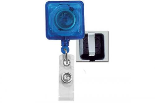 Blue Badge Reel with Clear Vinyl Strap