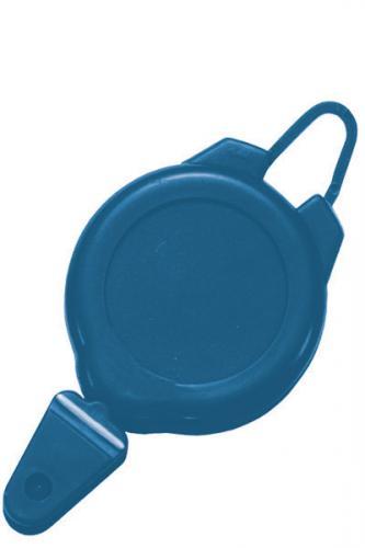 Ski / Sports Badge Reel Blue Plastic-Flex Hook-Snap Closure