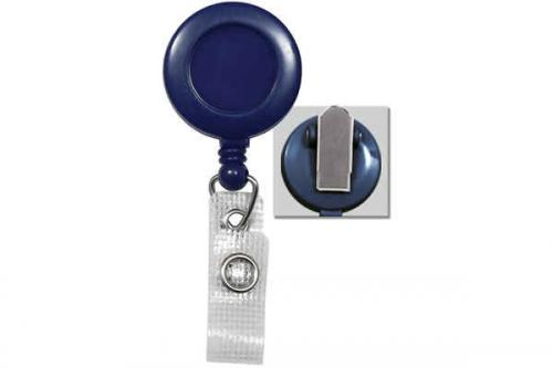 Blue Badge Reel with Reinforced Vinyl Strap