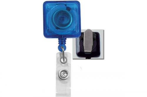 Translucent Blue Badge Reel