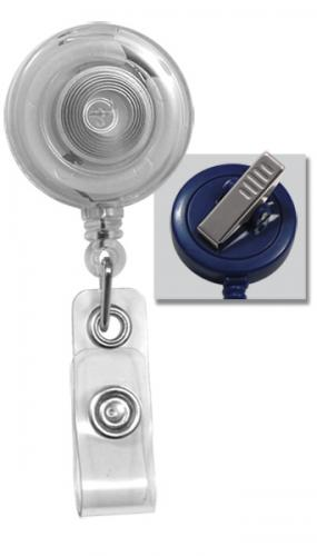 Translucent Badge Reel with Clear Vinyl Strap