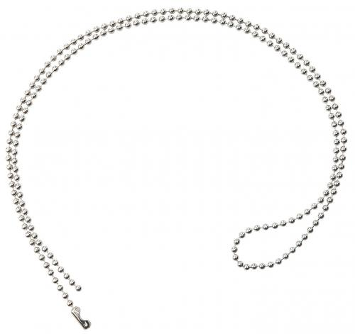 Nickel-Plated Steel Beaded Neck Chain