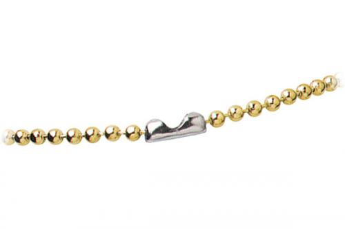 Brass-Plated Steel Beaded Neck Chain