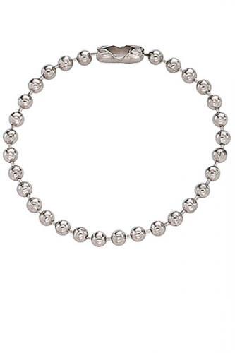 Nickel-Plated Steel Ball Chain, 4 1/2