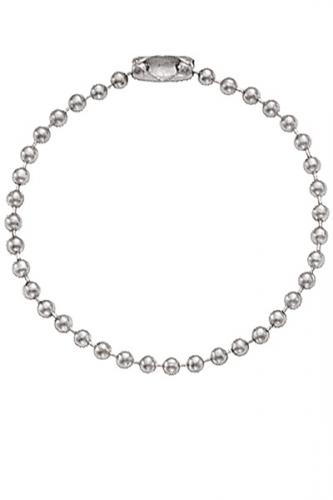 Nickel-Plated Steel Ball Chain, 4 1/2
