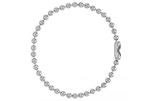 Nickel-Plated Steel Ball Chain, 5