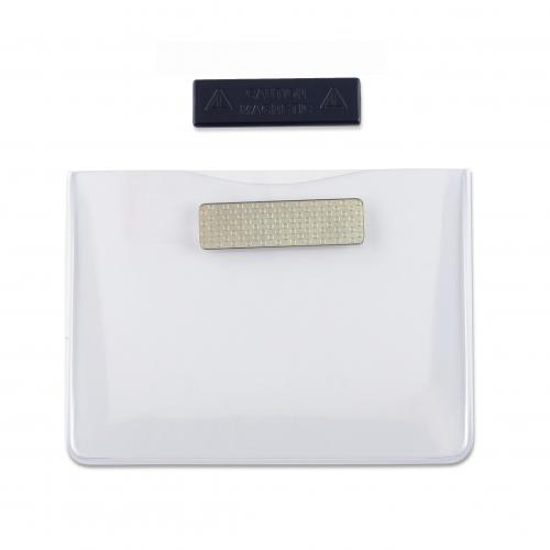 Acetate Horizontal Badge Holder with Magnet