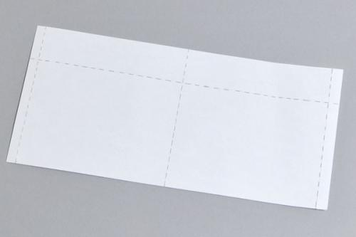 Perforated White Insert Cards