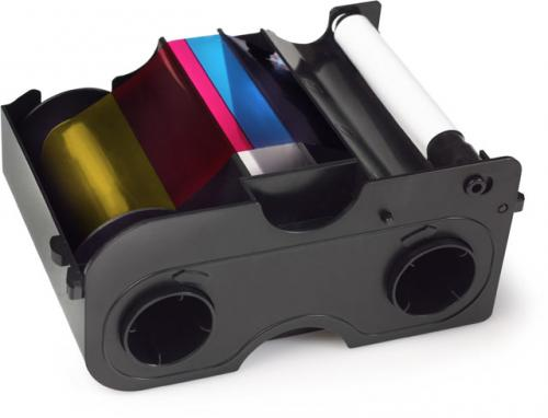 Fargo Half Panel Color Ribbon and Refillable Cartridge - YMCKO - 350 Prints