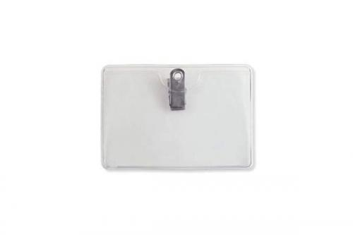 Premium Horizontal Badge Holder - Clip-On, Government Card Size