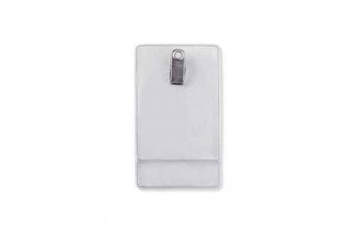 Premium Vertical Display Holder - Clip-On, Credit Card Size