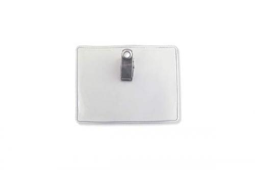 Premium Horizontal Badge Holder - Clip-On, Credit Card Size