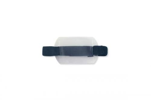 Horizontal Vinyl Holder with Blue Strap - Credit Card Size