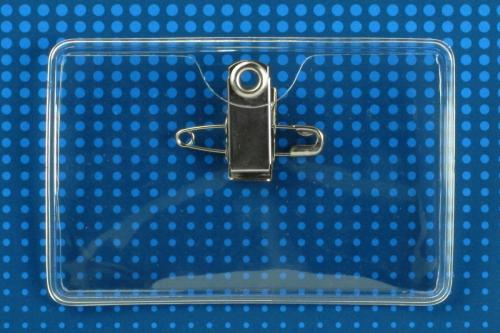Premium Vinyl Horizontal Pin/Clip-on Badge Holder